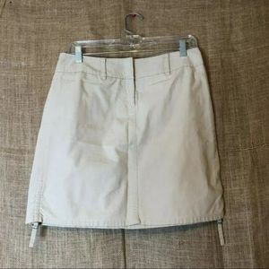 LOFT Skirts - Ann Taylor LOFT Skirt Size 4 Khaki Adjustable Work